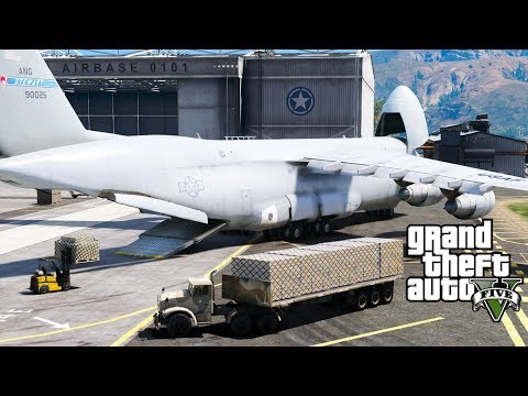 GTA 5 | USAF Delivering Humanitarian Aide To Hurricane Survivors | Cargo Air Lift & Formation Flying