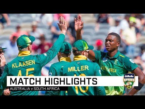 Australia v South Africa, first ODI