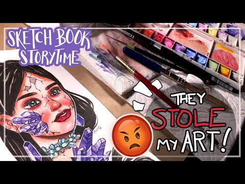 My Art Was Stolen By an Online Store and I Hired a Lawyer Sketchbook Storytime
