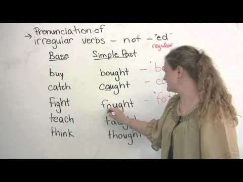 How to pronounce irregular verbs in English - CAUGHT, BOUGHT, THOUGHT...