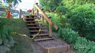 City of Toronto closes down park stairs built by local