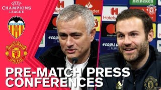Jose Mourinho & Juan Mata Press Conferences | Valencia v Manchester United | UEFA Champions League