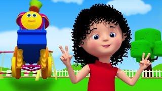Chubby bochechas Covinha queixo | Bob o trem | berçário rimas para crianças | Chubby Cheeks Rhyme