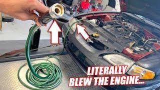 Can a Car RUN Through a GARDEN HOSE?? (DO NOT TRY)