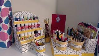 DIY - Markers Organizer - Back To School - CARDBOARD IDEAS