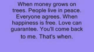 Shania Twain- When Lyrics