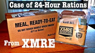 MRE Unboxing: XMRE 24-Hour Ration Case -- First Look
