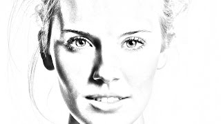 Photoshop Tutorial:How to transform PHOTOS into gorgeous,pencil DRAWING