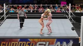 WWE 2K17 Ms. Marvel vs. Power Girl - Camel Clutch Ironman Match