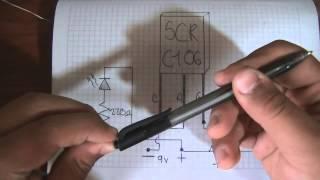Que Es Un SCR Como Usarlos + Ciurcuito Basico De Electronica
