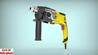 Bosch Hammer drill, hammer download free 3D cad models