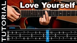 Love Yourself Justin Bieber ft Ed Sheeran guitarra acordes tutorial guitarraviva