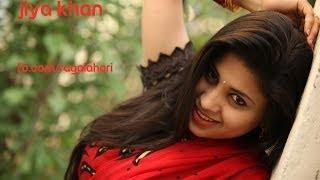 Jiya Khan in Red Saree - Ragalahari Exclusive Photo Shoot