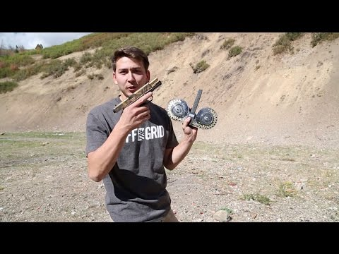 Full Auto Glock 100 Round Drum Mag Digging Shrapnel From My Shoulder With A Pocket Knife