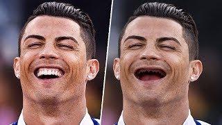 ماذا لو كان أشهر نجوم كرة القدم بدون أسنان !؟ ● 16 لاعب بينهم ميسي، سواريز ونيمار