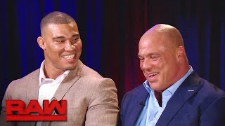Kurt Angle reveals Jason Jordan is his son: Raw, July 24, 2017