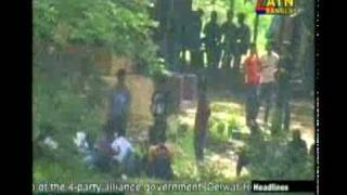 The clash betwen chatrolig two group in Jahangirnagor university