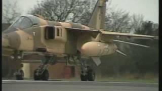Jaguar Fighter Shaving Rocks at Low Level