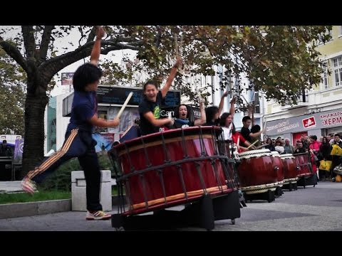 Yamato The Drummers of Japan Live Street Performance Taiko Drums Plovdiv Bulgaria