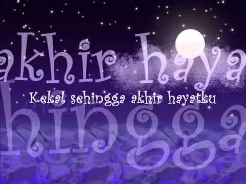 Ku Tetap Kan Menunggu-Hady Mirza with Lyrics on the Screen
