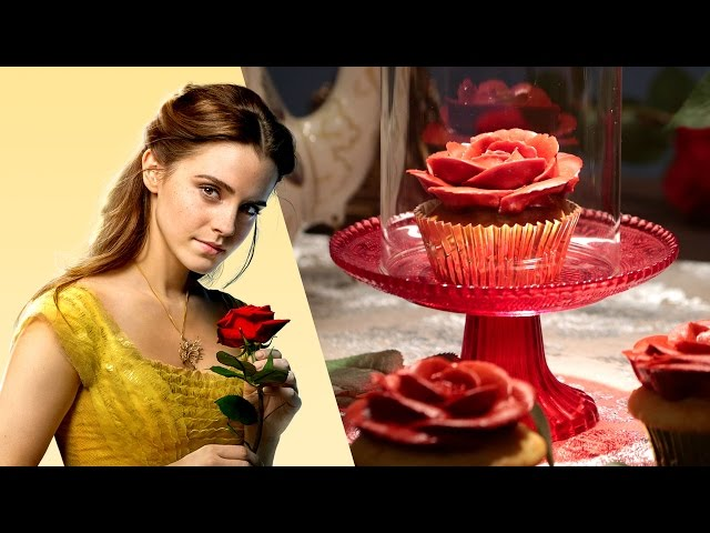 Beauty and the Beast Enchanted Rose Cupcake | Disney Family
