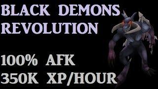 Black Demons Revolution Guide - AFK 350K Combat XP per hour [Runescape 2014]