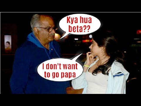 Xxx Mp4 Jhanvi Kapoor Gets EMOTIONAL While Saying Good Bye To Father Boney Kapoor 3gp Sex