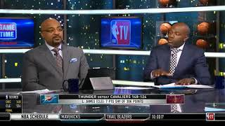 NBA Gametime   Thunder Defeat Cavaliers 148 -124   Lebron James On Ty Lue Should Be Blamed & Fired