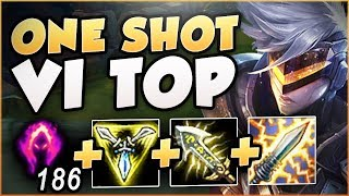 ONE COMBO = ONE KILL?! WTF DARK HARVEST VI IS SO DUMB! VI SEASON 8 TOP GAMEPLAY! - League of Legends