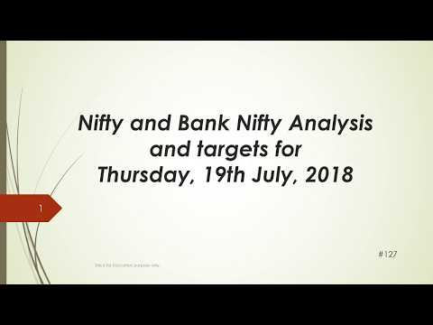 Nifty and BankNifty Trading Levels for 19 July 2018