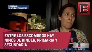 Conmovedores testimonios de padres de familia del Colegio Enrique Rébsamen