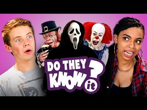 DO TEENS KNOW 90 s HORROR FILMS REACT Do They Know It
