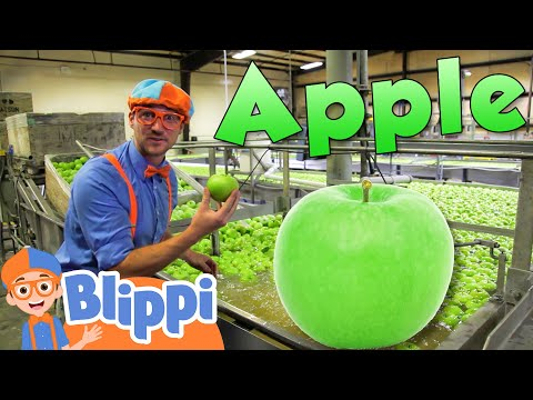 Learning Healthy Eating For Kids With Blippi At The Apple Factory Educational Videos For Toddlers