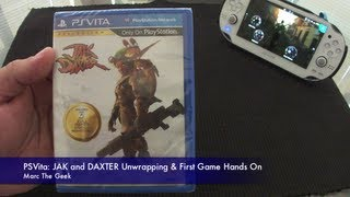 PSVita: Jak & Daxter Unwrapping & First Game Hands On