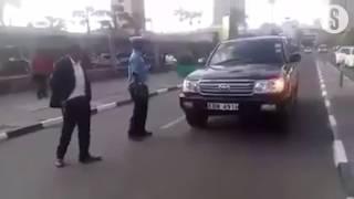 Boniface Mwangi blocks Mwingi West MP's car driving on wrong side