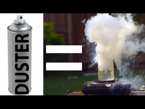 Computer Duster Water EXPLOSION