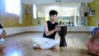 toque básico de atabaque de capoeira x Gibran