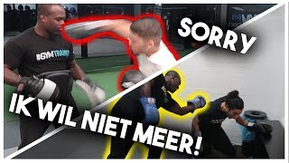 Ismail Ilgun Sparren met Melvin Manhoef (GAAT FOUT), Snelle move vs Melvin