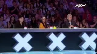 XXX AXN America's got top talent contest Crazy girl .The sacred#Raina# scary magician