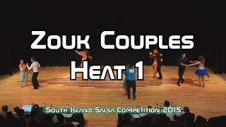 Zouk Couples (Heat 1) South Island Salsa Comp 2015 - 720p