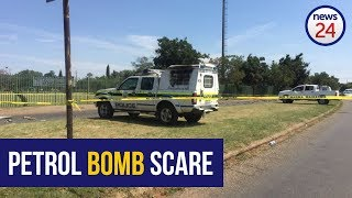 WATCH: Police van petrol bombed, several arrested on 2nd day of protests at #HoërskoolOvervaal