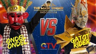 ONDEL ONDEL VS GATOT RIDER | | THE MASK SINGER INDONESIA #1(3/6) GTV