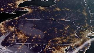GOES-16 Fog Dissipation over PA and NY