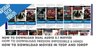 How To Download Hollywood Movies 5.1 Dual Audio Hindi    Download Mission Impossible 6 In Hindi.