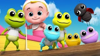 Five Little Speckled Frogs | Junior Squad Nursery Rhymes by Kids TV