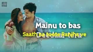 Dariya - FULL SONG with lyrics   Sidharth Malhotra, Katrina Kaif   Baar Baar Dekho   1080HD