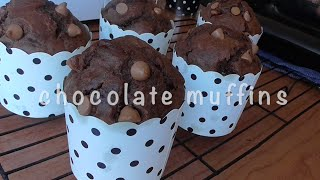 How To Make Chocolate Muffins recipe (resep muffin coklat)