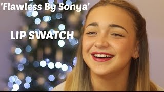 'Flawless' By Sonya Lipstick Swatch Part l   VLOGMAS #7
