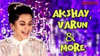Taapsee Pannu On Akshay Kumar, Varun Dhawan & More | Diwali Beats