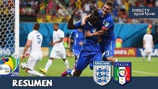 Inglaterra vs Italia 1-2 Grupo D Mundial Brasil 2014 DirecTV Sports HD